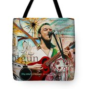 Dave Matthews Shotgun Tote Bag by Joshua Morton