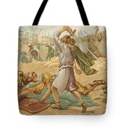 David About To Slay Goliath Tote Bag by John Lawson