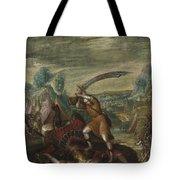 David Beheading Goliath Tote Bag