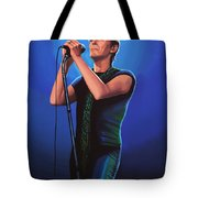 David Bowie 2 Painting Tote Bag