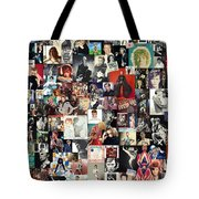 David Bowie Collage Tote Bag