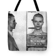 David Bowie Mug Shot Tote Bag