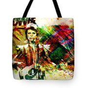 David Bowie Original Painting Print Tote Bag
