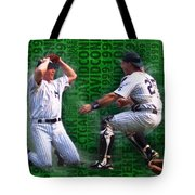 David Cone Yankees Perfect Game 1999 Zoom Tote Bag