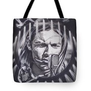 David Gilmour Of Pink Floyd - Echoes Tote Bag by Sean Connolly