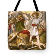 David Slaying Goliath Tote Bag