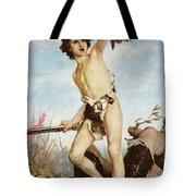 David Victorious Over Goliath Tote Bag