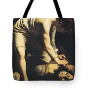 David Victorious Over Goliath Tote Bag