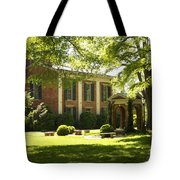 Davidson College Old Well And Philanthropic Hall Tote Bag