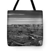 Dawn At Dead Horse Point Bw Tote Bag