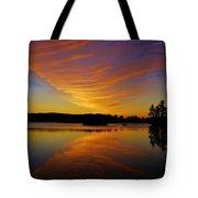 Dawn At Lake Tiorati Tote Bag