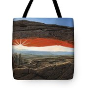 Dawn At Mesa Arch Canyonlands Utah Tote Bag