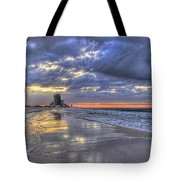 Dawn At The Cottages Of Romar Tote Bag