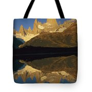 Dawn Fitzroy Massif Reflection Patagonia Tote Bag