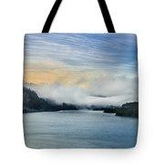 Dawn Fog On Klamath River Tote Bag
