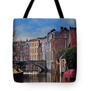 Dawn In Bruges Tote Bag