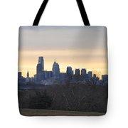 Dawn In Philadelphia Tote Bag