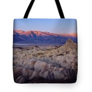 Dawn Over Death Valley Tote Bag