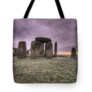 Dawn Over The Stones  Tote Bag