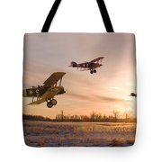 Dawn Patrol Tote Bag by Pat Speirs