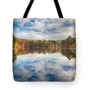 Dawn Reflection Of Fall Colors Tote Bag