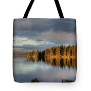 Dawn Reflections On Pelican Bay Tote Bag