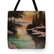 Dawn Snow On A Sunny Morning Tote Bag