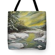 Dawning Of A Winter Day Tote Bag