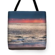 Dawns Red Sky Reflected Tote Bag