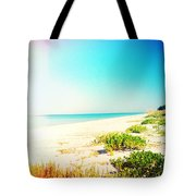 Day At The Beach Photography Light Leaks Tote Bag
