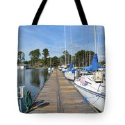 Sailboats On The Boardwalk Tote Bag