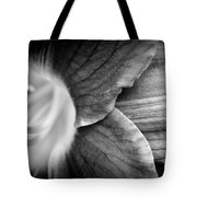 Day Lily Detail - Black And White Tote Bag