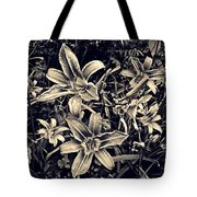 Day Lily Triptych Tote Bag by Sarah Loft
