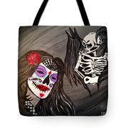 Day Of The Dead Good Vs Evil Tote Bag