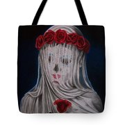 Day Of The Dead Veiled Bride Tote Bag