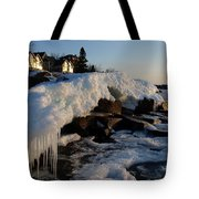 Daybreak At Cove Point Lodge Cottages Tote Bag