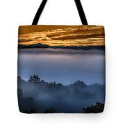 Daybreak Coming To The Smoky Mountains E150 Tote Bag