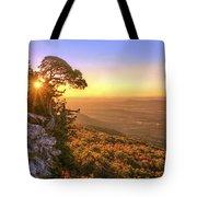 Daybreak On Mt. Magazine - Arkansas - Cedar Tree - Autumn Tote Bag