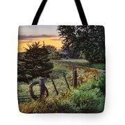 Daybreak Southwest Corner Fenceline Tote Bag