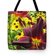 Daylilies And Rudbeckia Tote Bag