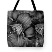 Daylilies Black And White Tote Bag