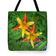 Frans Hall Daylily Attention Getter Tote Bag
