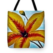 Daylily Expressive  Brushstrokes Tote Bag