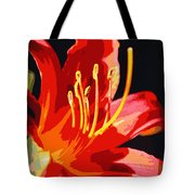 Daylily Flame Tote Bag
