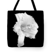 Daylily Flower Portrait Black And White Tote Bag