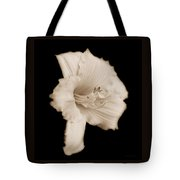 Daylily Flower Portrait Sepia Tote Bag