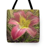 Daylily In Gold Leaf Tote Bag