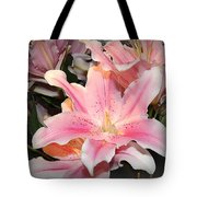 Pink Daylily In Bloom Tote Bag