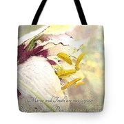 Daylily Photoart With Verse Tote Bag