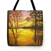Day's End On Lake Talquin Tote Bag